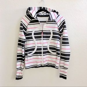 Lululemon Pink & Black Striped Hoodie, 4 or 6